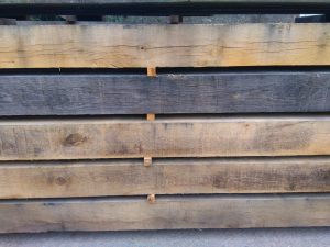 Air-dried oak beams
