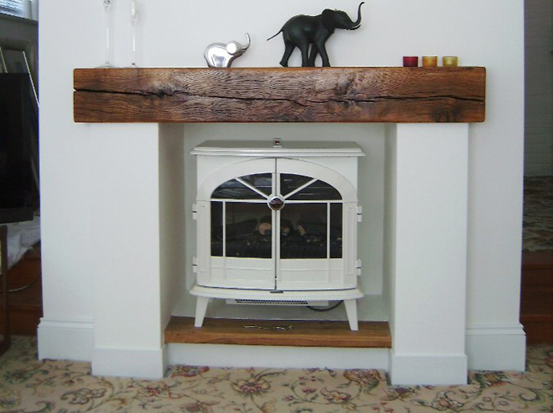 Oak fireplace beams - Oak Beam UK