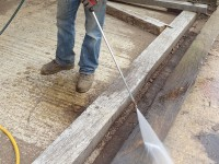 All oak beams are power-washed which is included in the price