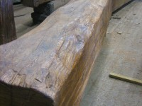 Once a reclaimed beam has gone through the preparation process, a wax or oil finish can be applied