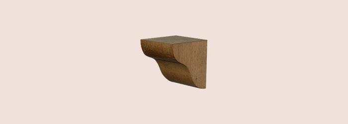 Small Oak Corbel - oakcorbelSM