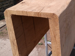 Oak beam cladding for commercial property