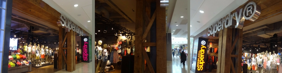 oak beams for superdry shop